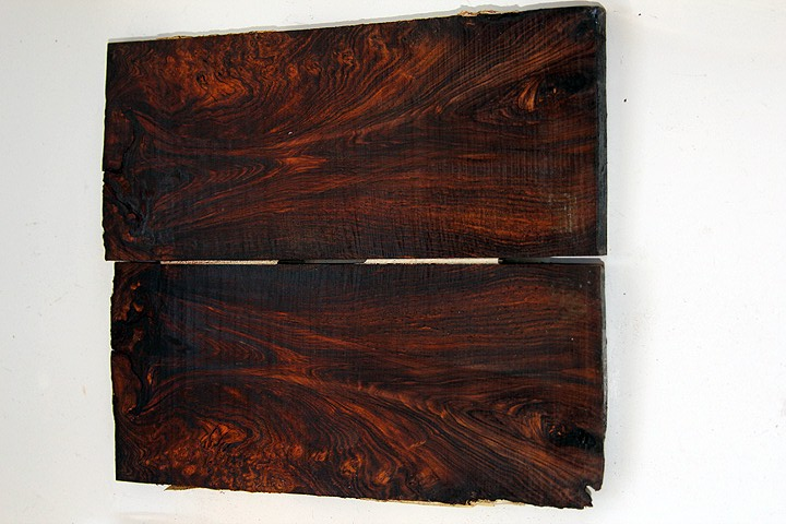 cocobolo burl and rosewood burl knife scales 180.JPG