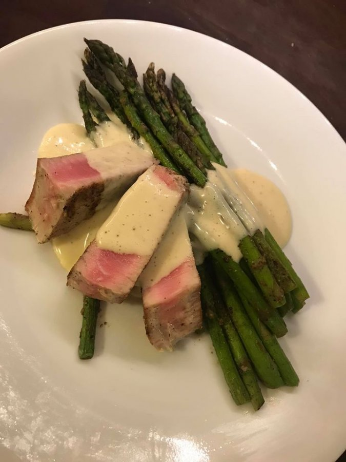 Mahi mahi with asparagus and ginger lime bernaise.jpg